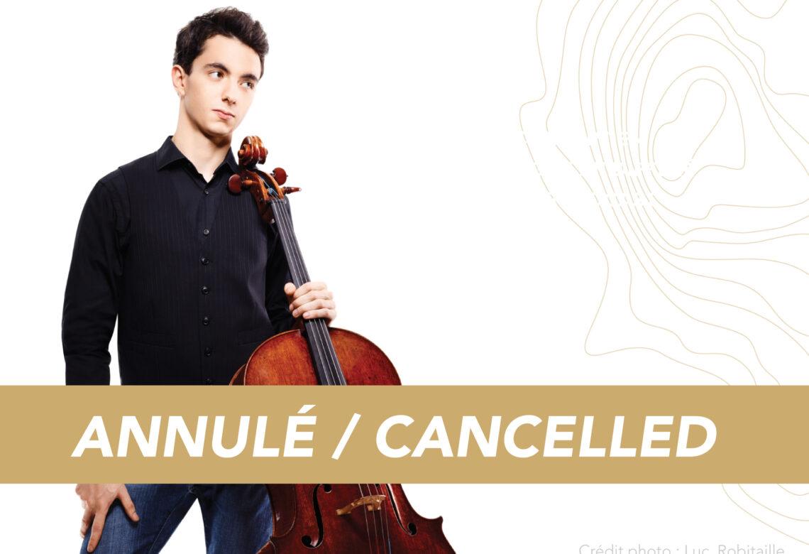 Concert Stéphane Tétreault annulé