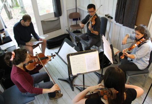 2015 inter CAO hutte CdM prof -Jonathan Crow- quatuor cordes stagiaire alto violoncelle violons jouer Plong 02